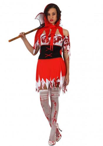 Déguisement petit chaperon rouge ensanglanté femme Halloween
