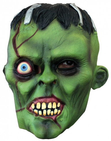Masque monstre vert borgne adulte Halloween