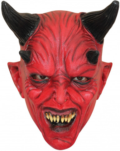 Masque diable rouge adulte Halloween