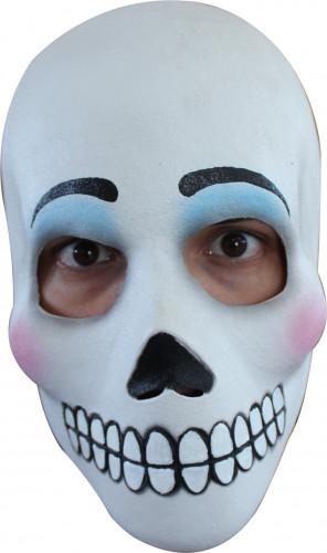 Masque crâne adulte Dia de los Muertos maquillé femme