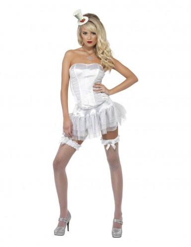 Déguisement ange pailleté blanc femme