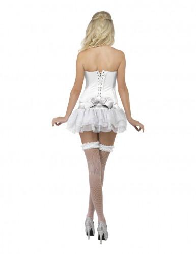 Déguisement ange pailleté blanc femme-1