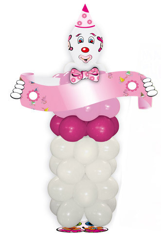Kit ballons en forme de clown rose