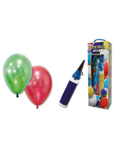 25 Ballons métalliques avec pompe