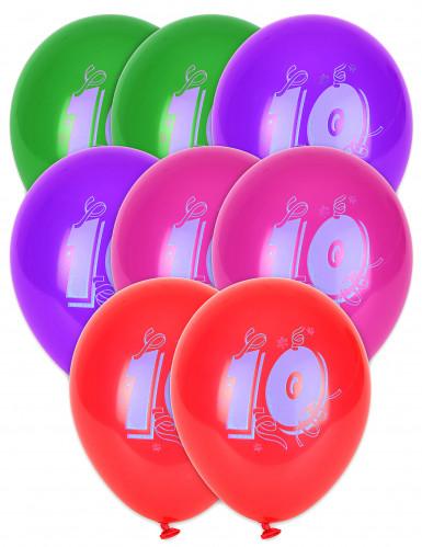 8 Ballons chiffre 10
