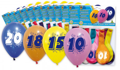 8 Ballons chiffre 20