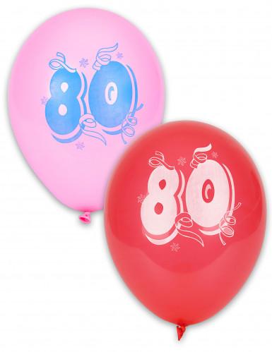 8 Ballons chiffre 80