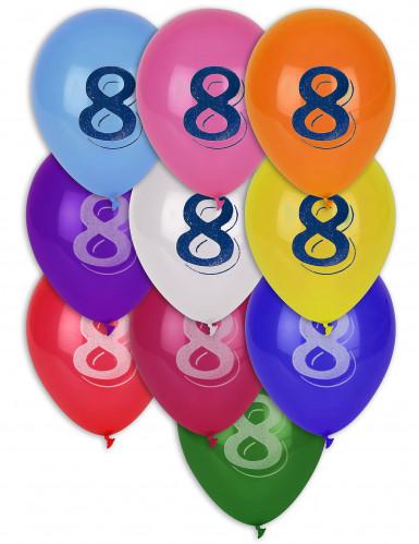 8 Ballons chiffre 8