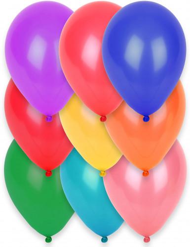 12 Ballons différentes couleurs 28 cm