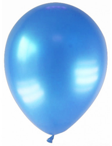 12 Ballons métallisés bleus 28 cm