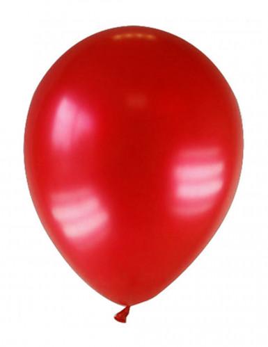 12 Ballons métallisés rouges foncés 28 cm