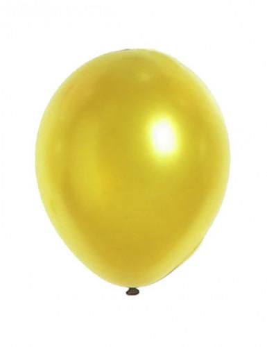 12 ballons or métalisés de 28 cm