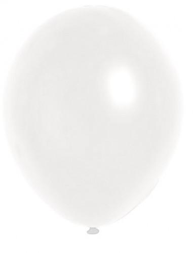 100 Ballons métalliques blancs 29 cm