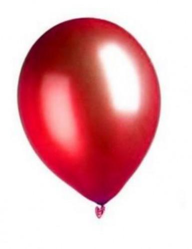 100 Ballons métalliques rouges 29 cm