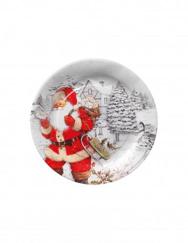 10 assiettes en carton Père Noël 23cm