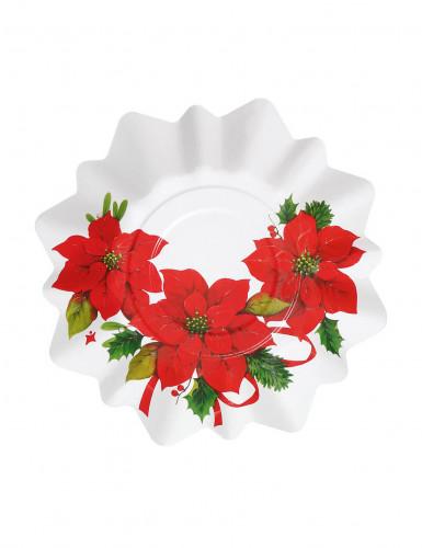 8 Petites assiettes Fleur de Noël