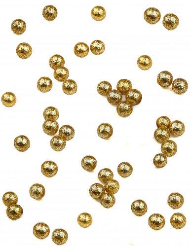 160 Mini boules paillettées dorées