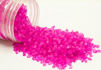 Pépites de verre fuchsia 400 grammes