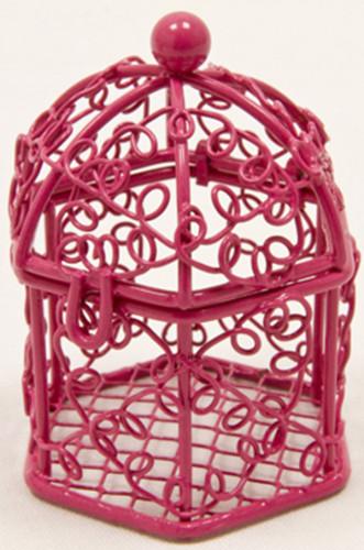 Mini cage oiseaux fuchsia