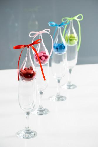 3 Contenants goutte d'eau transparents 11 cm-1