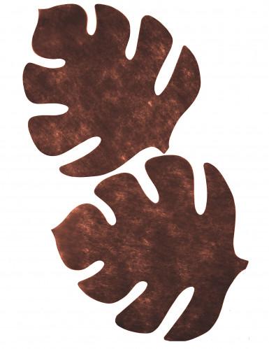 4 Sets de table en forme de feuille fuchsia