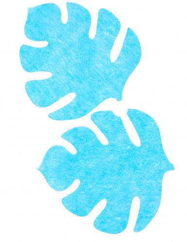 4 Sets de table en forme de feuille turquoise-1