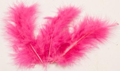 20 plumes de décoration fuchsia