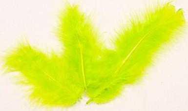 20 plumes de décoration vertes anis