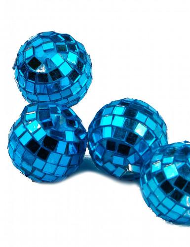 4 mini boules à facettes turquoise-1