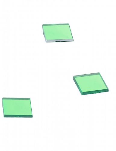 20 Mini miroirs carrés verts