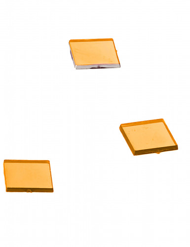 20 Mini miroirs carrés orange