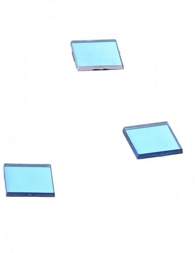 20 Mini miroirs carrés turquoise