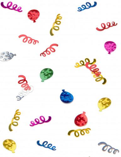 Confettis de table ballons et serpentins