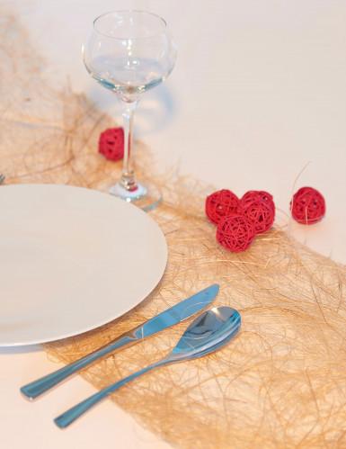 6 boules en osier rouges/fuchsia (Dia. 3,5 cm)-1