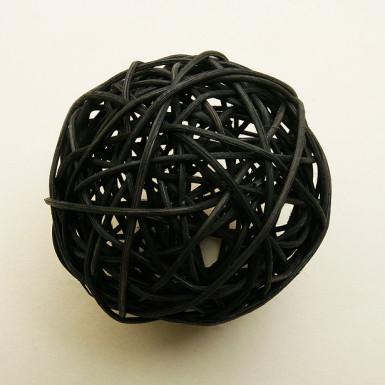 Boule en osier noire (Dia. 10 cm)