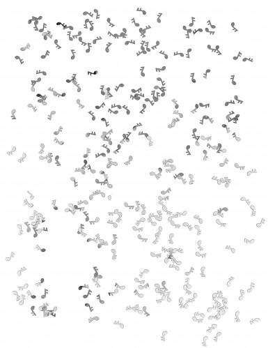 Confettis de table forme note de musique argentés-1