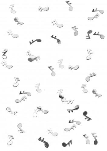 Confettis de table forme note de musique argentés