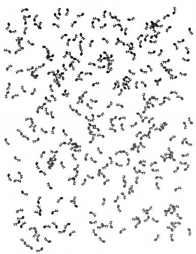 Confettis de table forme note de musique noirs-1