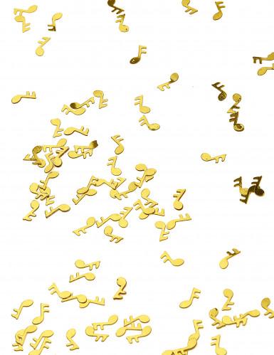 Confettis de table forme note de musique dorés