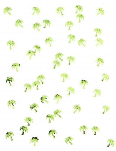 Confettis de table forme palmier verts-1