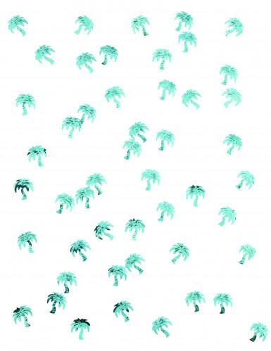 Confettis de table forme palmier turquoise-1