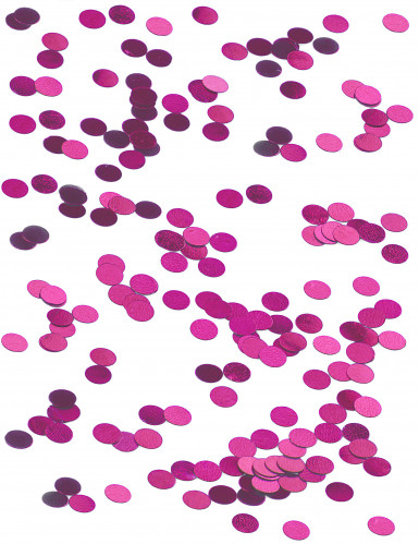 Petits confettis de table ronds fuchsia 0.6 cm