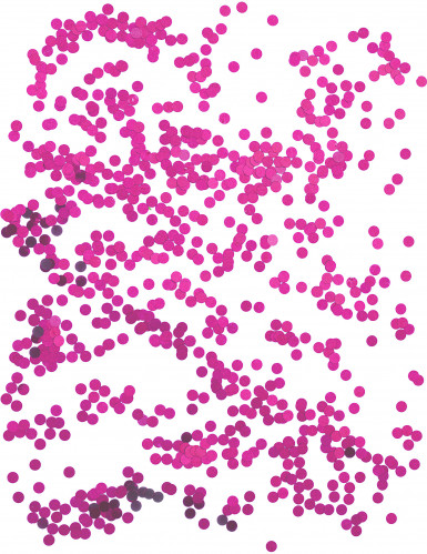 Petits confettis de table ronds fuchsia 0.6 cm-1