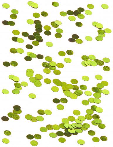 Confettis de table ronds verts