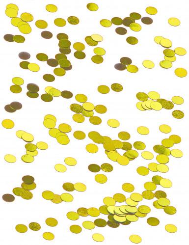 Petits confettis de table ronds dorés 0.6 cm