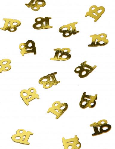 Confettis de table dorés chiffre 18