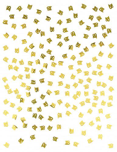 Confettis de table dorés chiffre 18-1