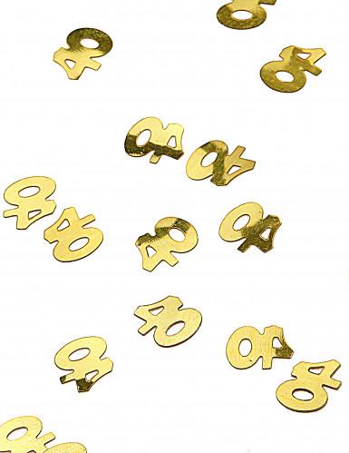 Confettis de table dorés chiffre 40