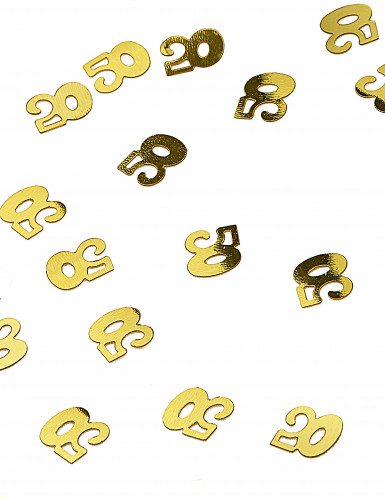 Confettis de table dorés chiffre 50