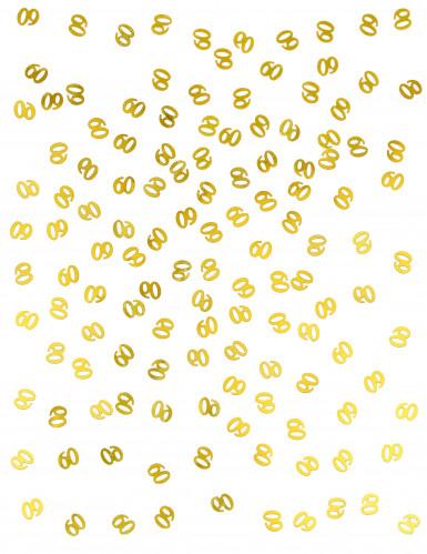 Confettis de table dorés chiffre 60-1
